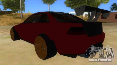GTA V Sentinel RS MKII para GTA San Andreas traseira esquerda vista