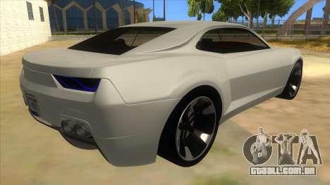 Chevrolet Camaro DOSH tuning MQ para GTA San Andreas vista direita