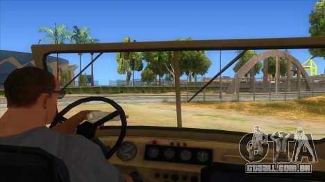 UAZ-469 Desert para GTA San Andreas vista interior