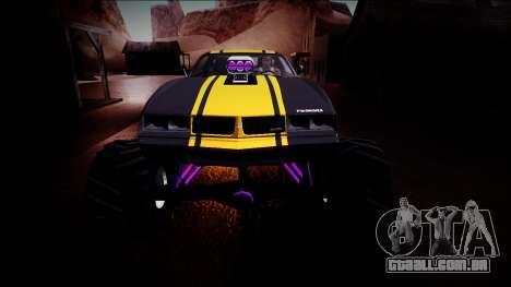 GTA 5 Imponte Phoenix Monster Truck para GTA San Andreas vista superior
