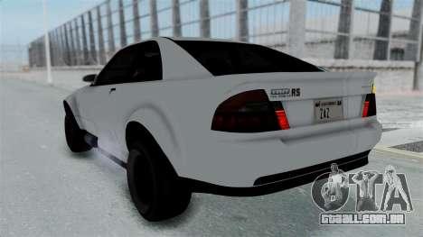 GTA 5 Karin Sultan RS Stock PJ para GTA San Andreas interior