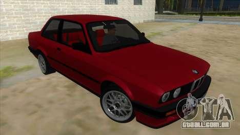 BMW M3 E30 1991 para GTA San Andreas vista traseira