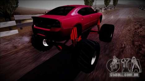 2006 Dodge Charger SRT8 Monster Truck para GTA San Andreas esquerda vista