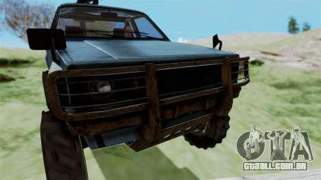 GTA 5 Karin Technical Machinegun IVF para GTA San Andreas vista traseira
