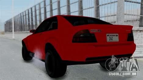 GTA 5 Karin Sultan RS Stock PJ para GTA San Andreas esquerda vista