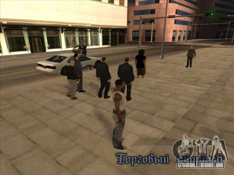 Os russos, no distrito Comercial para GTA San Andreas segunda tela