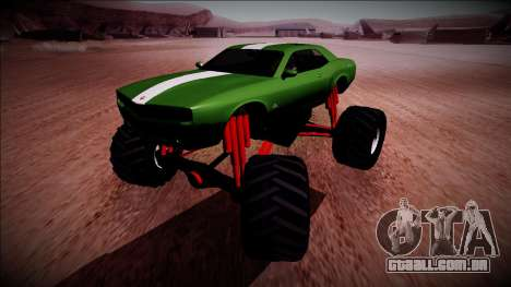 GTA 5 Bravado Gauntlet Monster Truck para GTA San Andreas vista traseira