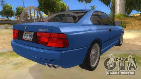 BMW 850i E31 para GTA San Andreas vista direita