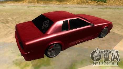 GTR Elegy para GTA San Andreas vista direita