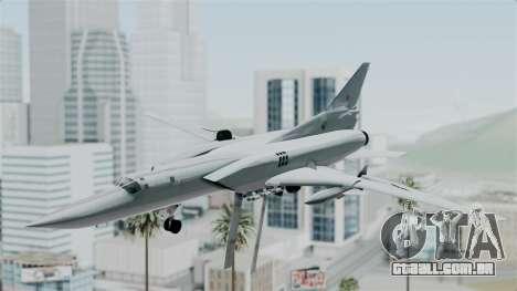 TU-22M3 Verde para GTA San Andreas traseira esquerda vista