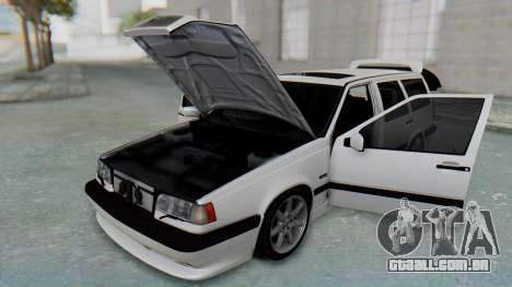 Volvo 850R 1997 Tunable para GTA San Andreas vista interior