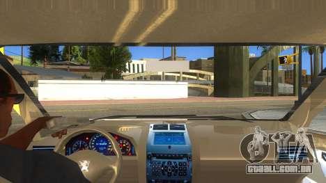 Peugeot 407 para GTA San Andreas vista interior