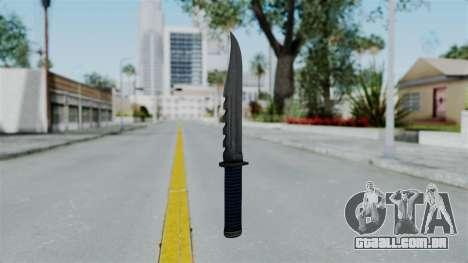 GTA 5 Knife para GTA San Andreas segunda tela