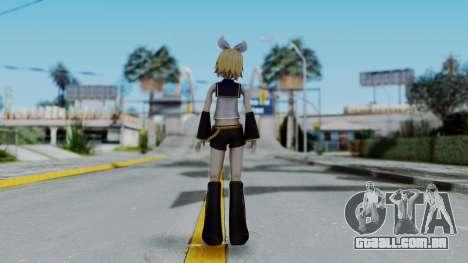 Project Diva F2 - Kagamine Rin (Costume 1) para GTA San Andreas terceira tela