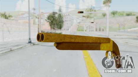 Double Barrel Shotgun Gold Tint (Lowriders CC) para GTA San Andreas