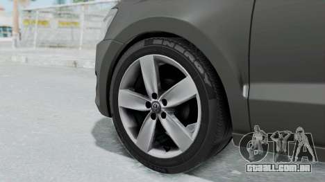 Volkswagen Polo 6R 1.4 HQLM para GTA San Andreas traseira esquerda vista