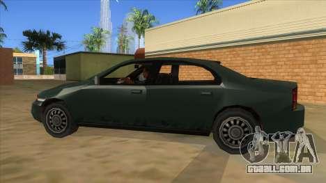 GTA LCS KURUMA para GTA San Andreas esquerda vista