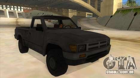 Toyota Hilux Militia para GTA San Andreas vista traseira