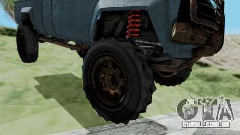 GTA 5 Karin Technical Machinegun IVF para GTA San Andreas traseira esquerda vista