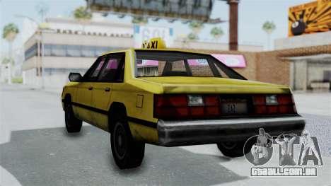 Taxi from GTA Vice City para GTA San Andreas esquerda vista