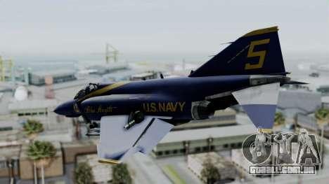McDonnell Douglas RF-4B Blue Angels para GTA San Andreas esquerda vista