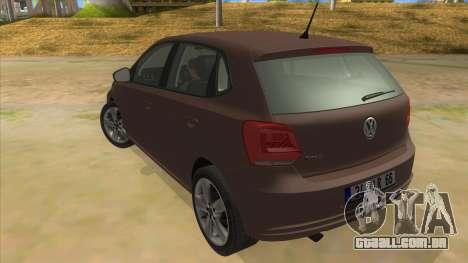 Volkswagen Polo 6R 1.4 para GTA San Andreas traseira esquerda vista