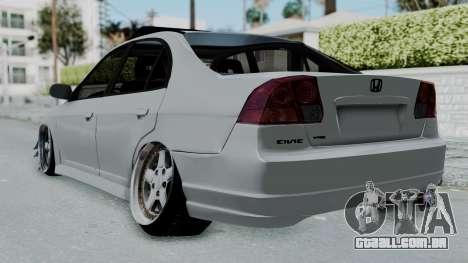 Honda Civic 2002 Model Vtec1 para GTA San Andreas esquerda vista