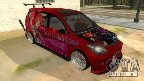 Toyota Avanza R9 Exhaust Nishikino Maki Itasha para GTA San Andreas vista traseira