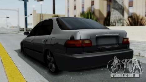 Honda Civic 1992 Sedan para GTA San Andreas esquerda vista
