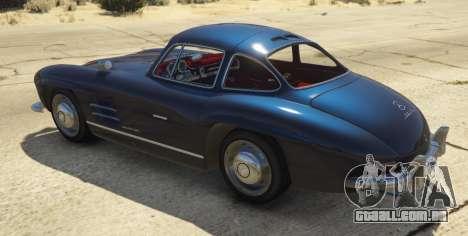 GTA 5 1954 Mercedes-Benz 300 SL Gullwing 1.0 traseira vista lateral esquerda