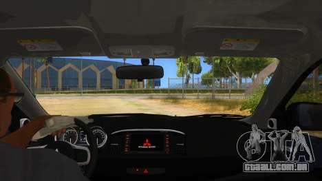 Mitsubishi Lancer Evolution X Koi-chan Itasha para GTA San Andreas vista interior