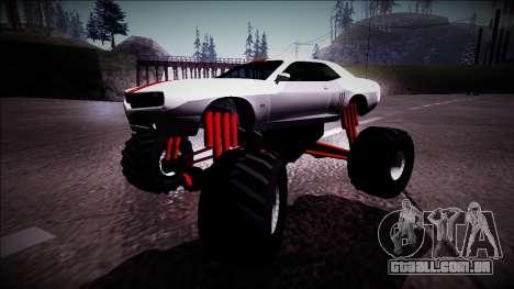 GTA 5 Bravado Gauntlet Monster Truck para GTA San Andreas esquerda vista