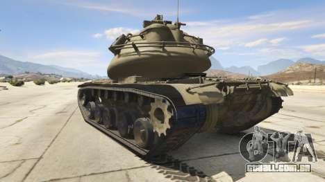 GTA 5 M103 traseira vista lateral esquerda