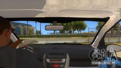 2005 Peugeot 107 V2 para GTA San Andreas vista interior