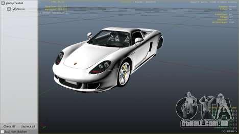 GTA 5 Porsche Carrera GT vista lateral direita