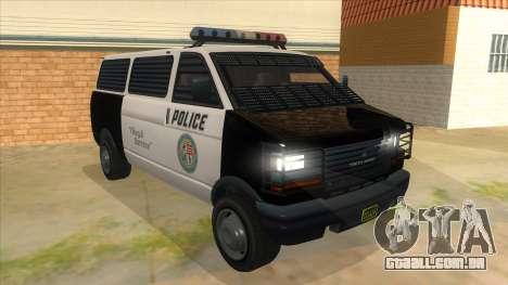 GTA 5 Burrito Transport para GTA San Andreas vista traseira
