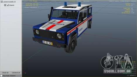 GTA 5 Land Rover Defender vista lateral direita