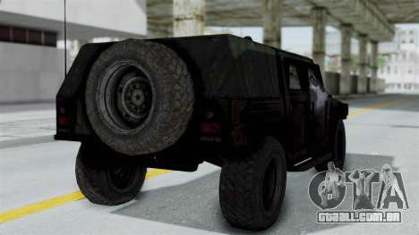 HMLTV-998 BULDOG from Crysis 2 para GTA San Andreas esquerda vista