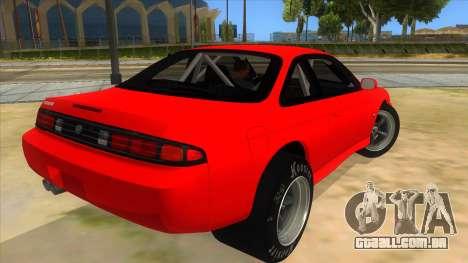 Nissan Silvia S14 Drag para GTA San Andreas vista direita