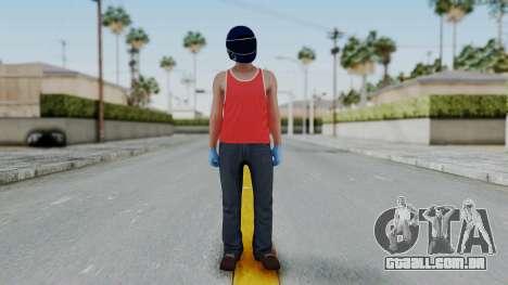 Biker from Hotline Miami para GTA San Andreas segunda tela