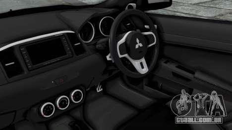 Mitsubishi Lancer Evolution X GSR Full Tunable para GTA San Andreas vista direita