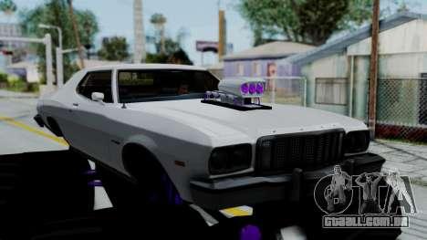 Ford Gran Torino Monster Truck para GTA San Andreas traseira esquerda vista