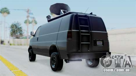 Vapid Speedo Newsvan para GTA San Andreas esquerda vista