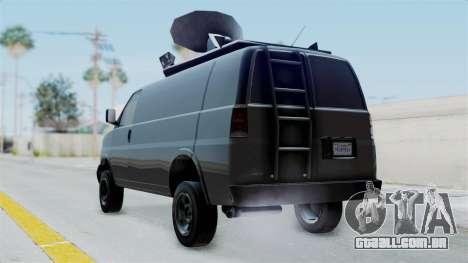 Vapid Speedo Newsvan para GTA San Andreas esquerda vista
