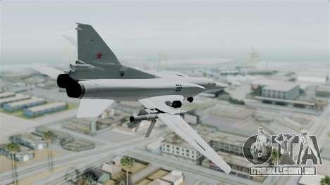 TU-22M3 Verde para GTA San Andreas esquerda vista
