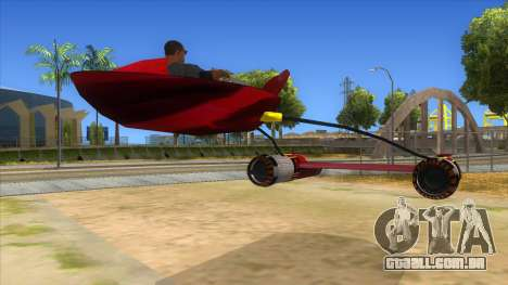 StarWars Anakin Podracer para GTA San Andreas vista direita