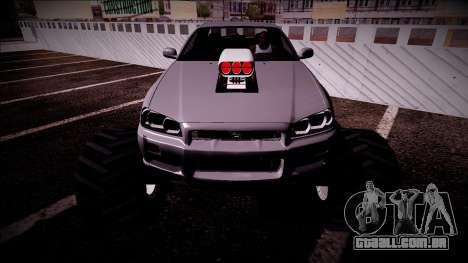 Nissan Skyline R34 Monster Truck para o motor de GTA San Andreas