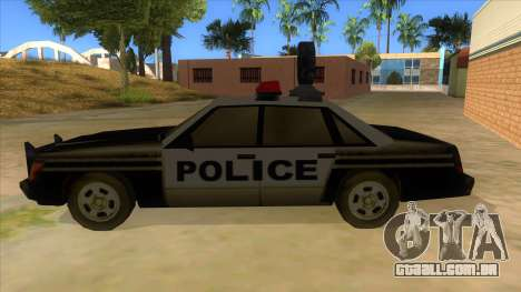 Police Car from Manhunt 2 para GTA San Andreas esquerda vista