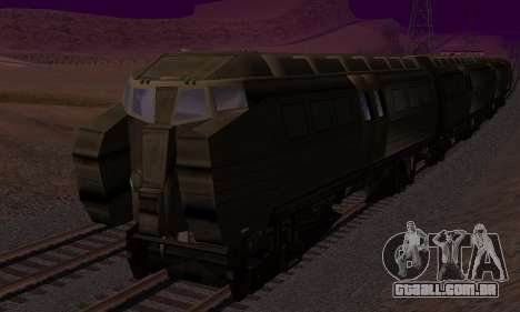 Batman Begins Monorail Train v1 para GTA San Andreas vista superior