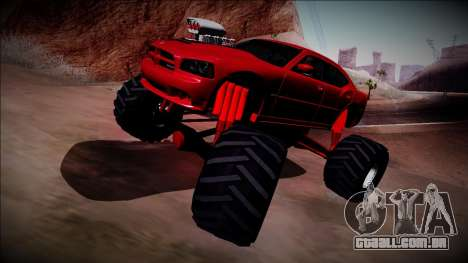 2006 Dodge Charger SRT8 Monster Truck para GTA San Andreas vista interior